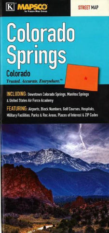 Buy map Colorado Springs, Colorado by Kappa Map Group