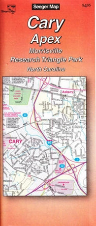 Buy map Cary, Apex, Morrisville and Research Triangle Park, North Carolina by The Seeger Map Company Inc.