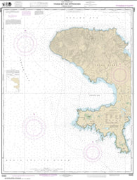 Buy map Andrenof. Islands Tanga Bay and approaches (16462-7) by NOAA