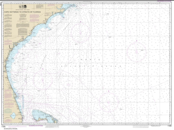 Buy map Cape Hatteras to Straits of Florida (11009-39) by NOAA