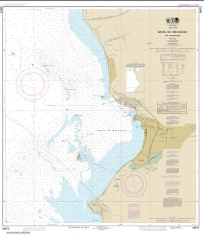 Buy map Bahia de Mayaguez and approaches (25673-17) by NOAA