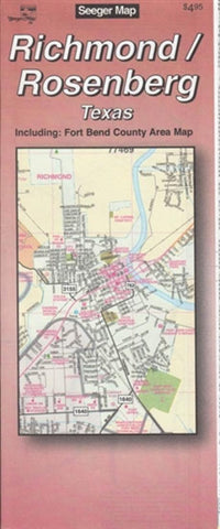 Buy map Richmond and Rosenberg, Texas by The Seeger Map Company Inc.