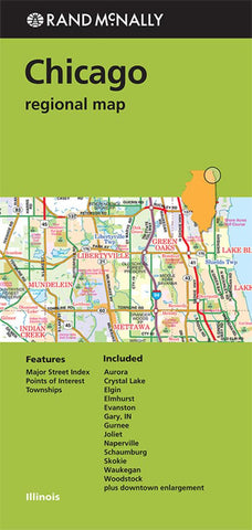 Buy map Chicago, Illinois Regional by Rand McNally