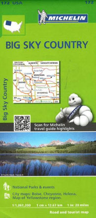 Buy map Big Sky Country (172) by Michelin Maps and Guides