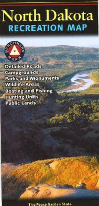 Buy map North Dakota Recreation Map by Benchmark Maps