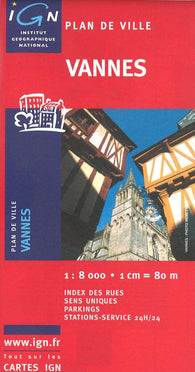 Buy map Vannes, France by Institut Geographique National