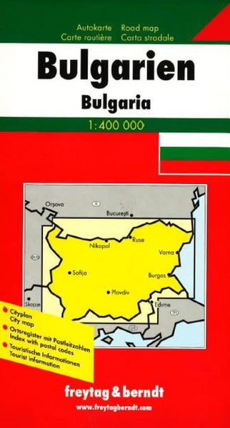 Buy map Bulgaria by Freytag-Berndt und Artaria