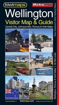 Buy map Wellington, New Zealand, Visitor and Tourist, Metromap by Kiwi Maps
