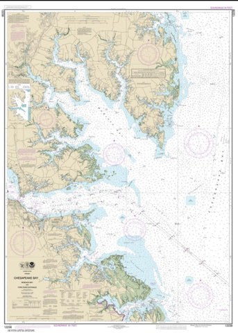 Buy map Chesapeake Bay Mobjack Bay and York River Entrance (12238-41) by NOAA