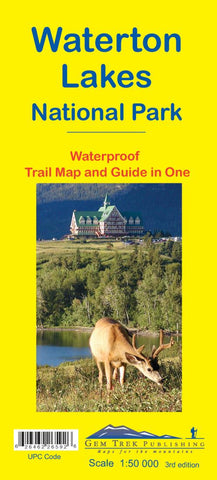 Buy map Waterton Lakes National Park, Alberta and British Columbia, waterproof by Gem Trek