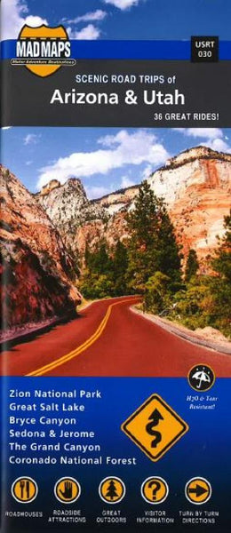 Buy map Arizona and Utah, Regional Scenic Tours by MAD Maps