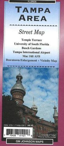 Buy map Tampa, Florida, Area by GM Johnson