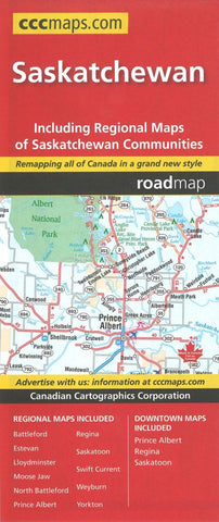 Buy map Saskatchewan Road Map by Canadian Cartographics Corporation