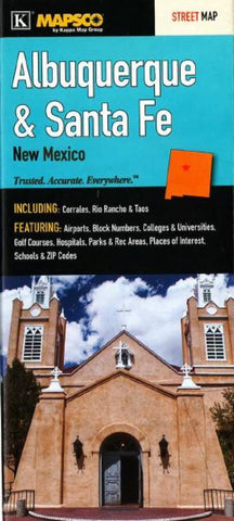 Buy map Albuquerque, Santa Fe and Taos, New Mexico by Kappa Map Group