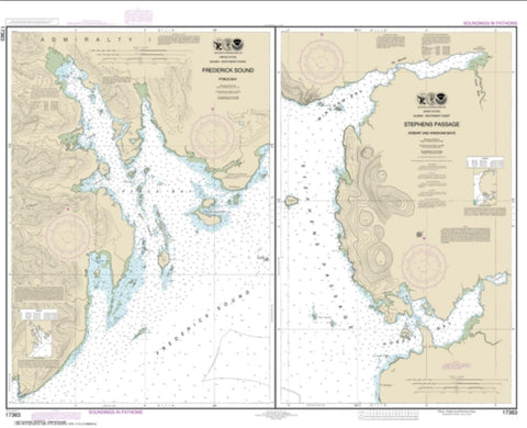 Buy map Pybus Bay, Frederick Sound; Hobart and Windham Bays, Stephens P. (17363-14) by NOAA