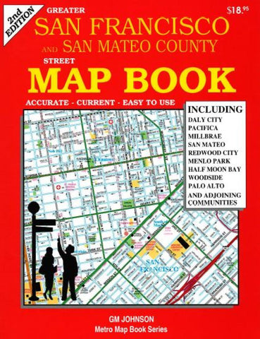 Buy map Greater San Francisco San Mateo County CA Street Map