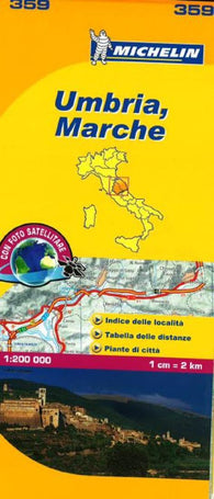 Buy map Umbria and Marche, Italy (359) by Michelin Maps and Guides