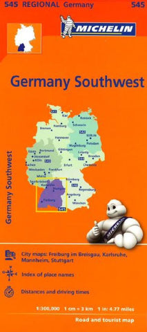 Buy map Germany, Southwest (545) by Michelin Maps and Guides