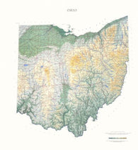 Buy map Ohio, Physical, laminated by Raven Press