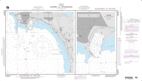 Buy map Durres And Approaches (NGA-54267-1) by National Geospatial-Intelligence Agency