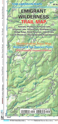 Buy map Emigrant Wilderness Trail Map by Tom Harrison Maps