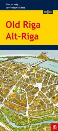 Buy map Riga (Old), Tourist Map by Jana Seta
