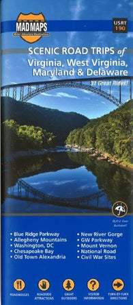Buy map Virginia, West Virginia, Maryland and Delaware, Scenic Road Trips by MAD Maps