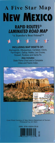Buy map New Mexico Rapid Routes by Five Star Maps, Inc.