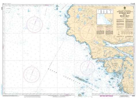 Buy map Approaches to/Approches a Seymour Inlet and/et Belize Inlet by Canadian Hydrographic Service