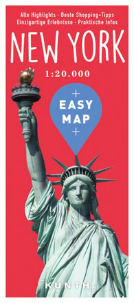 Buy map New York, Easy Map, German Edition by Kunth Verlag