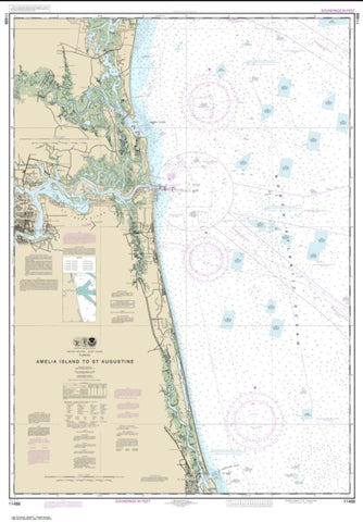 Buy map Amelia Island to St. Augustine (11488-28) by NOAA