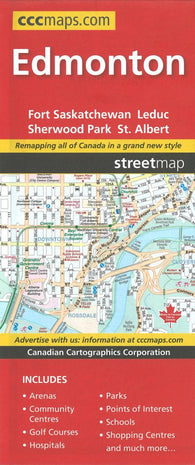 Buy map Edmonton, Alberta Street Map by Canadian Cartographics Corporation