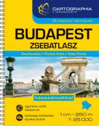 Buy map Budapest, Hungary, Pocket Atlas by Cartographia
