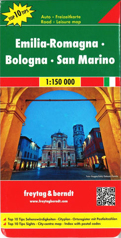 Buy map Emilia-Romagna, Italy and San Marino by Freytag-Berndt und Artaria