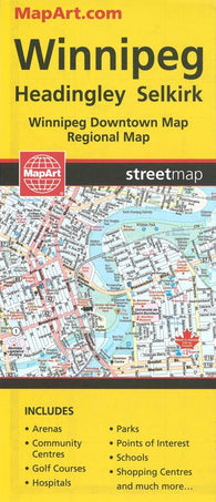 Buy map Winnipeg, Manitoba Street Map by Canadian Cartographics Corporation