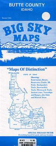 Buy map Butte County, Idaho by Big Sky Maps