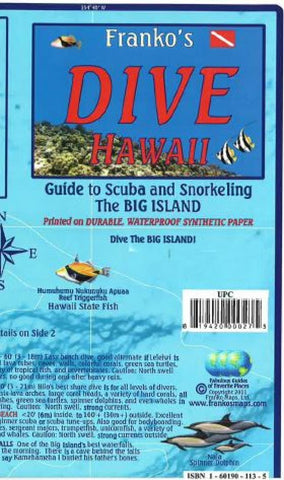 Buy map Hawaii Map, Big Island Dive, folded, 2011 by Frankos Maps Ltd.