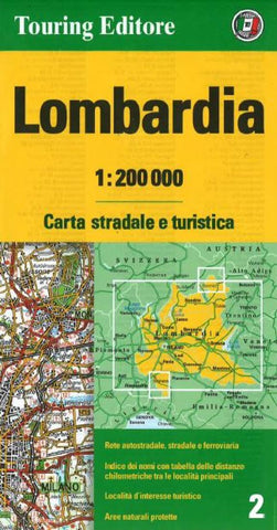 Buy map Lombardia, Italy by Touring Club Italiano