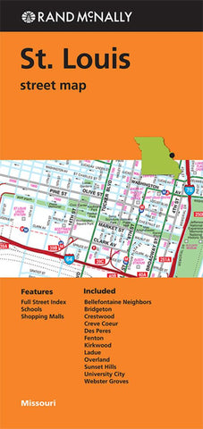 Buy map St. Louis, Missouri by Rand McNally