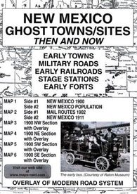 Buy map New Mexico, Ghost Towns, 5-Map Set, Then and Now by Northwest Distributors