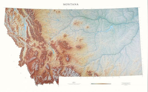 Buy map Montana, Physical by Raven Press