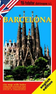 Buy map Barcelona, Spain, English Edition by Distrimapas Telstar, S.L.
