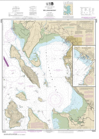 Buy map Bellingham Bay; Bellingham Harbor (18424-28) by NOAA