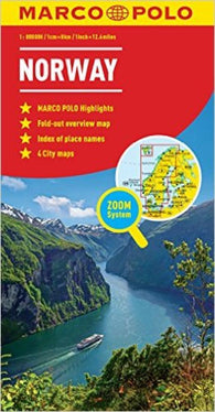 Buy map Norway by Marco Polo Travel Publishing Ltd