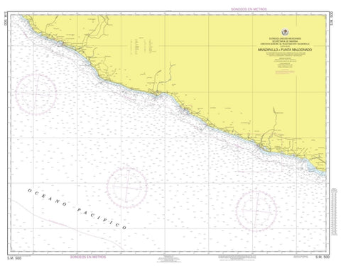 Buy map Manzanillo a Punta Maldonado by Secretaria de Marina