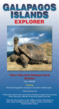 Buy map Galapagos Islands Explorer Map by Ocean Explorer Maps