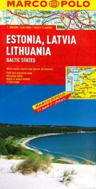 Buy map Estonia, Latvia, Lithuania [Baltic States] by Marco Polo Travel Publishing Ltd