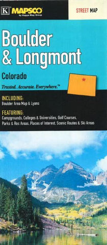 Buy map Boulder and Longmont, Colorado by Kappa Map Group