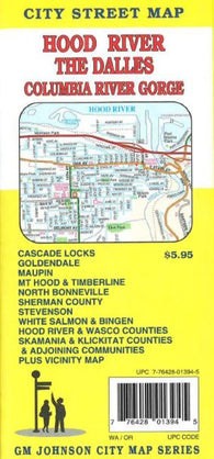 Buy map Hood River, The Dalles and Columbia River Gorge, Oregon/Washington by GM Johnson