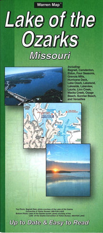 Buy map Lake of the Ozarks, Missouri by The Seeger Map Company Inc.